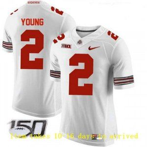 Mens Buckeyes #2 Chase Young Jersey 150th